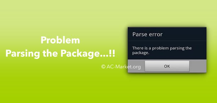 acmarket problem parsing the package