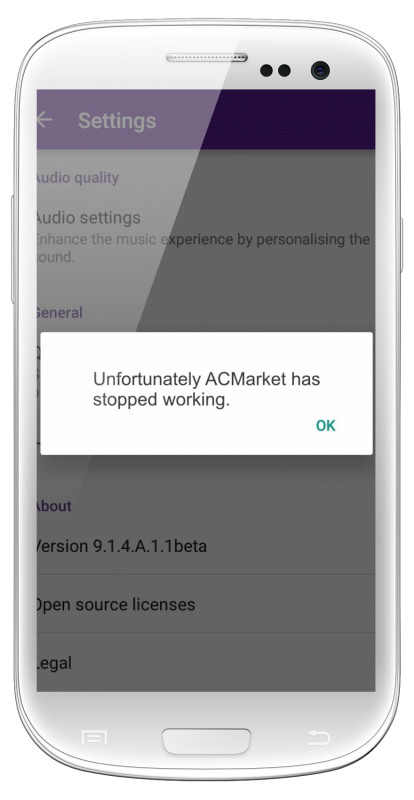 unfortunately-acmarket_app-has-stopped
